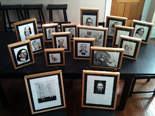 frames made of poplar with walnut splines for illustrations by ammon perry