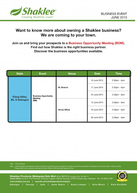 Business Event for June 2015