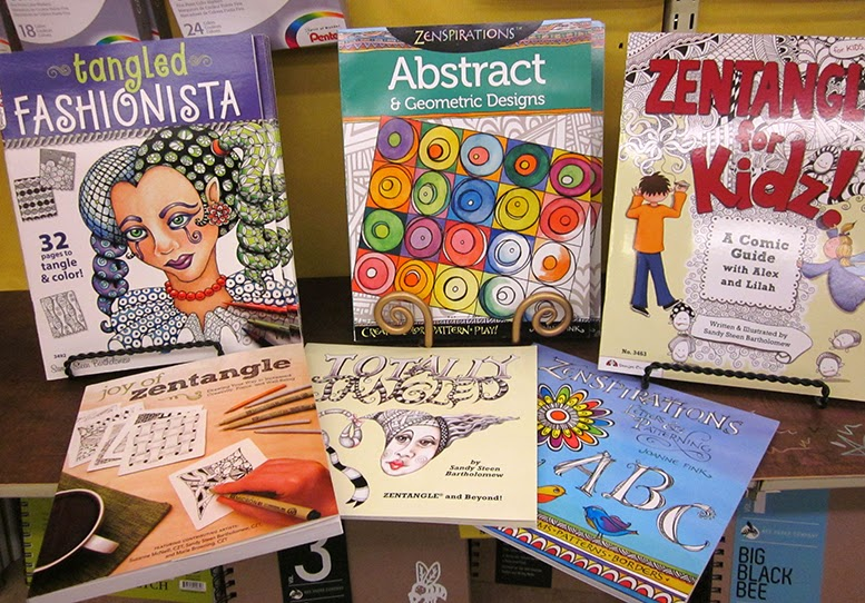 Zentangle books for beginners to advanced artists.