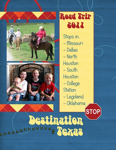 2011 Family Vacation Scrapbook Cover