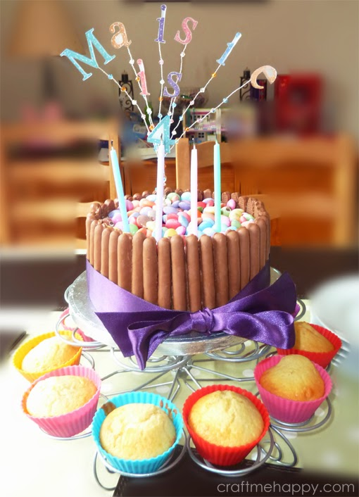 Chocolate Fingers and Smarties Birthday Cake Craft me Happy