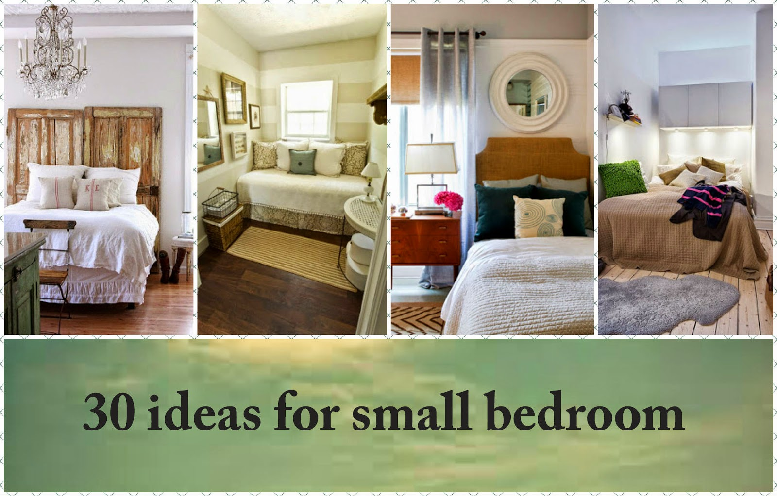 30 ideas for small bedroom