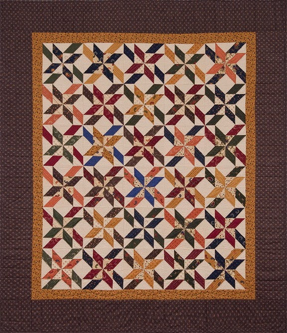 Gias mouth moda three strip pinwheel quilt pattern lady Smoky
