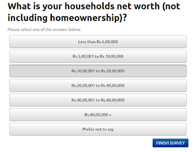 Example of survey question on Quest Mindshare