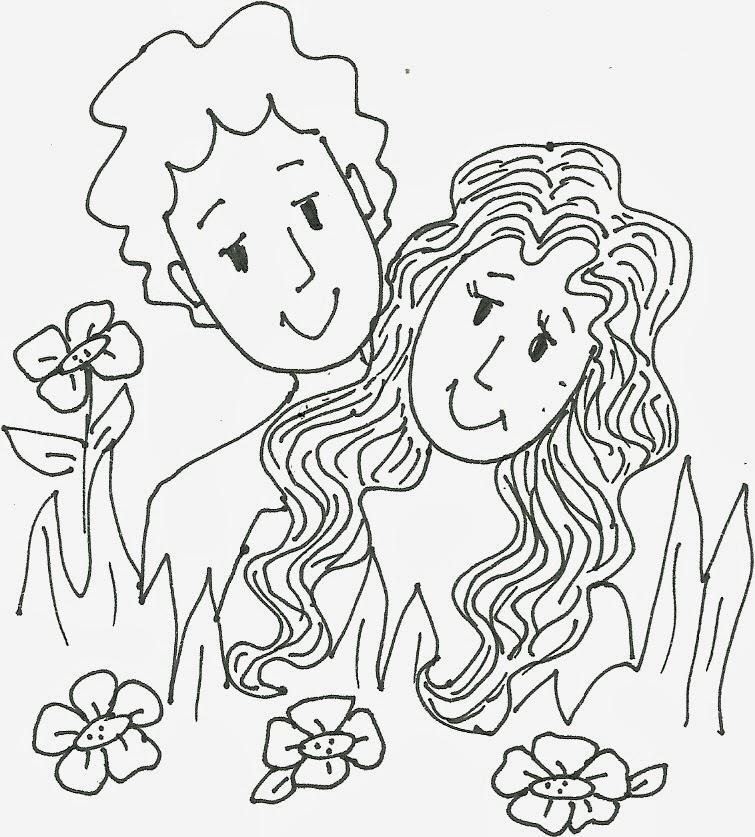 Atractivo Adán Y Eva Colorear Página Lds Molde - Dibujos Para ...
