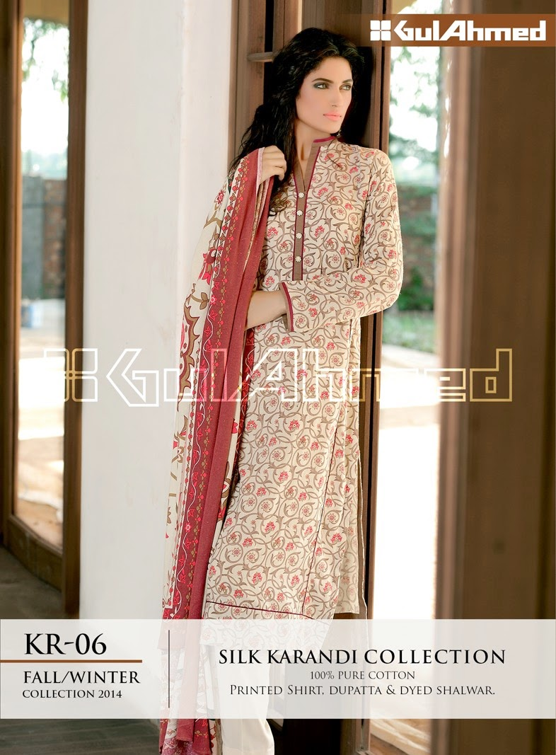 GulAhmed Fall/Winter 2014 Silk Karandi Collection - KR-06