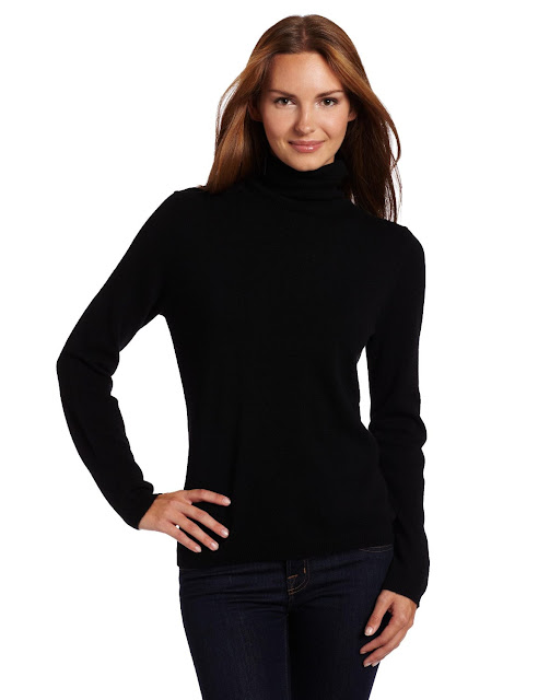 Black Cashmere Turtle Neck Sweater 60