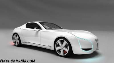 white audi d7 concept car wallpaper