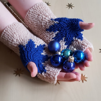 Xmas Star Mitts - Free Knitting Pattern by Knitting and so on