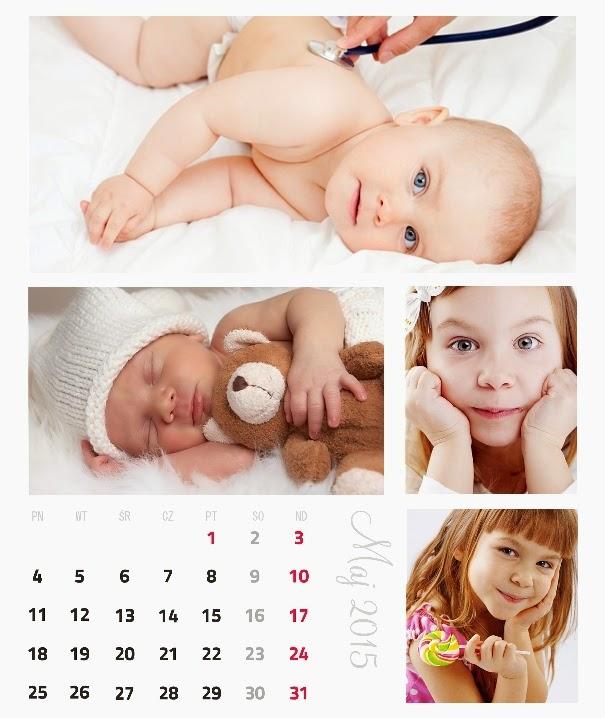 projekt fotokalendarza foto-mozaika