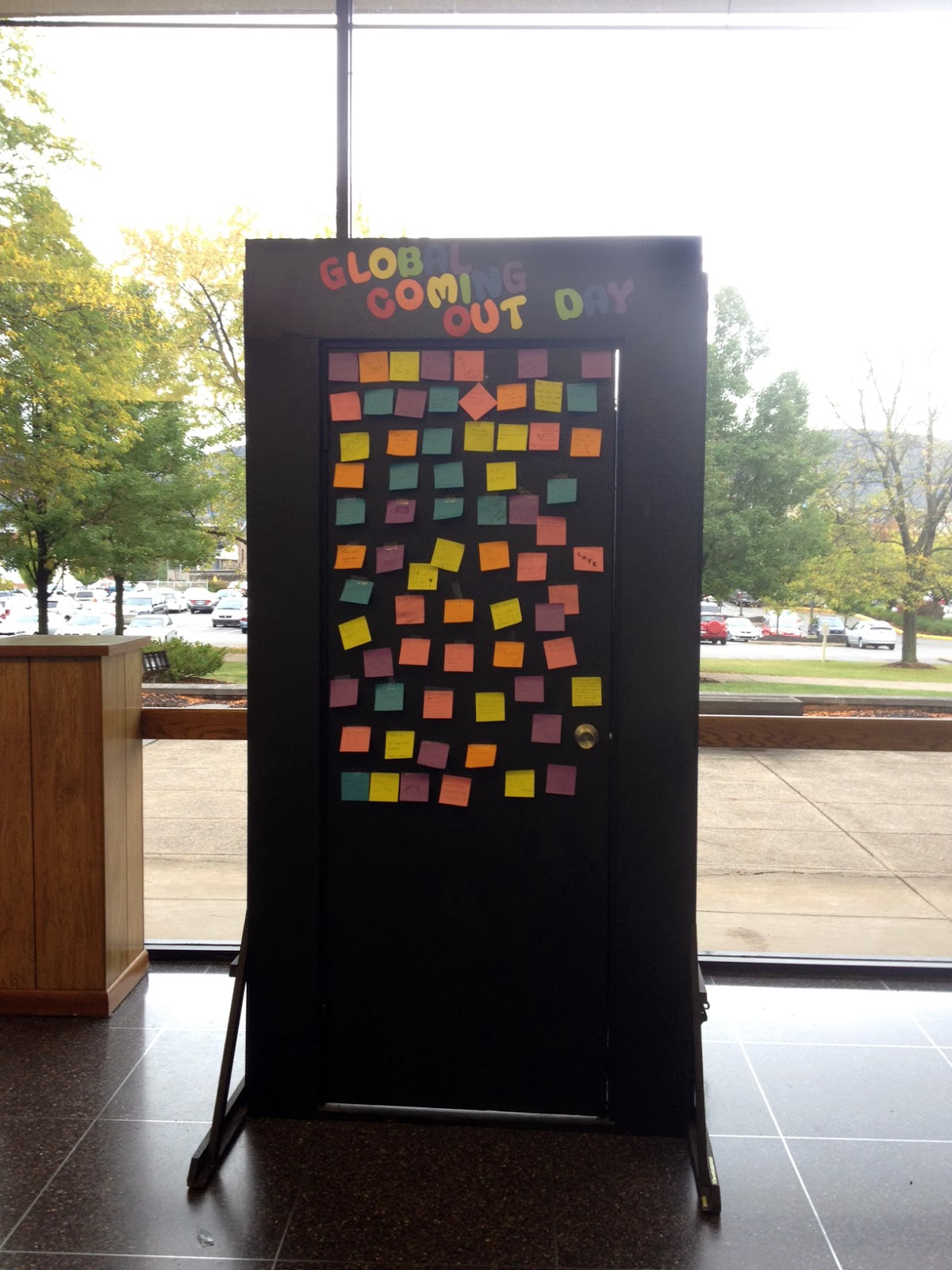 GLOBAL recognizes National Coming Out Day with door in Pennington Lounge & GLOBAL recognizes National Coming Out Day with door in Pennington ... pezcame.com