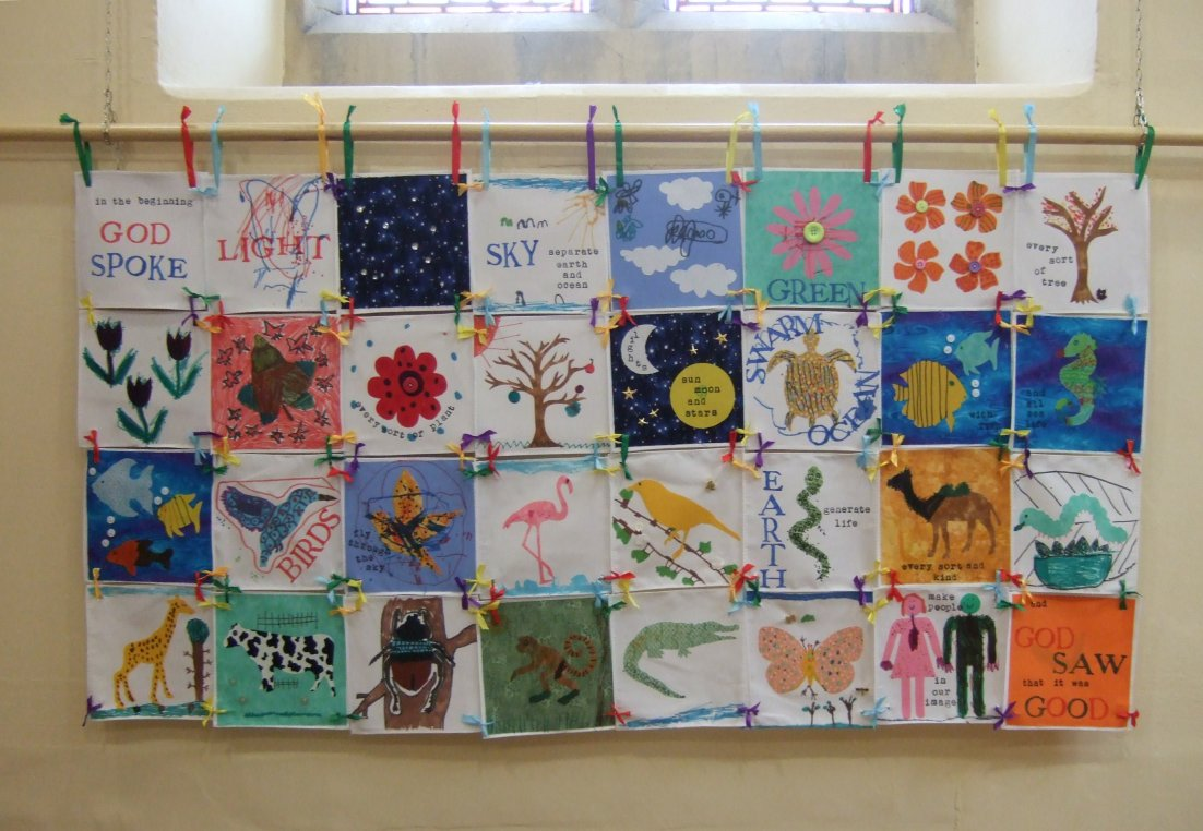 Craft for creation story - Creation Story A Kids Banner