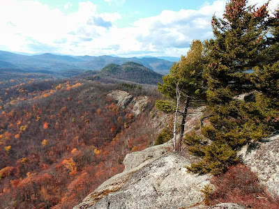 View from Moxham Mountain's summit.  The Saratoga Skier and Hiker, first-hand accounts of adventures in the Adirondacks and beyond, and Gore Mountain ski blog.