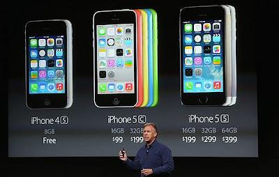 Inilah Spesifikasi dari iPhone 5S & 5C