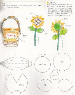 vasinhos de tecido com flores - PAP (DIY) e molde