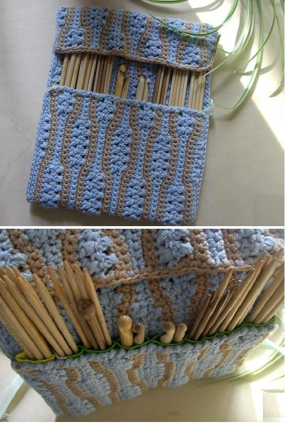 Organizador De Baño A Crochet:Patron Crochet Organizador Agujas – Patrones Crochet