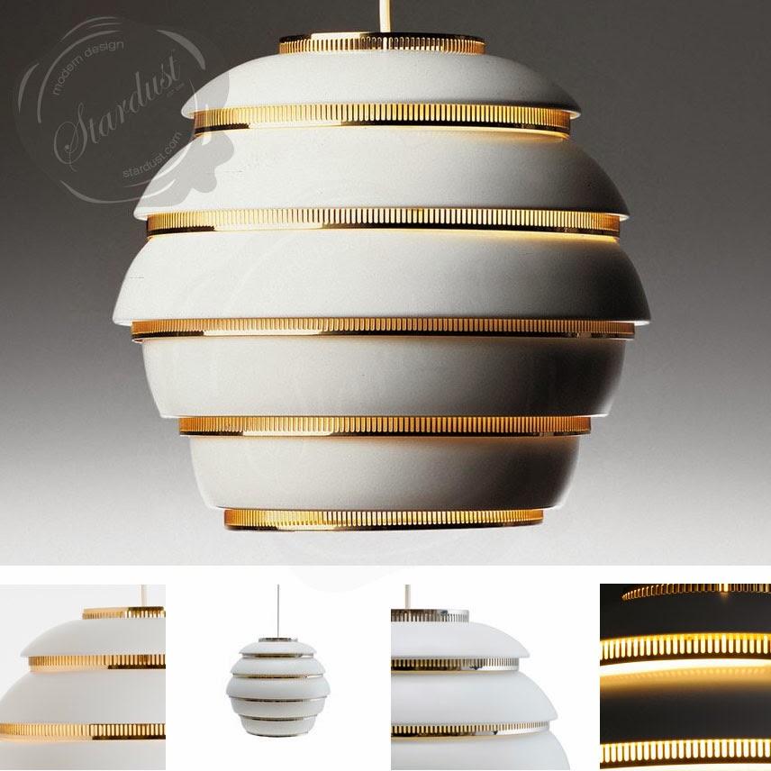 beehive pendant light white brass alvar aalto. Black Bedroom Furniture Sets. Home Design Ideas