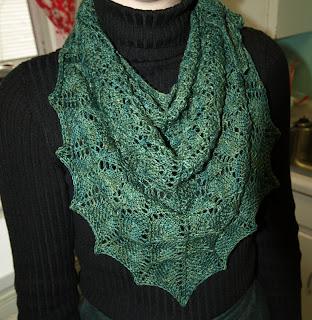 The yarn I used for it is a sock yarn by Three Irish Girls.