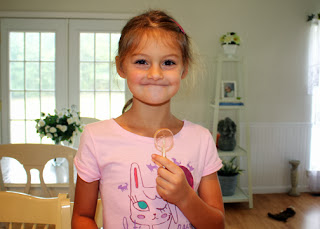 Tessa enjoyed her igneous rock lollipops, which we flavored with bubblegum candy oil.