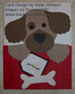 Punch Art Dog Card Made with Stampin'UP!'s Blossom Builder Punch
