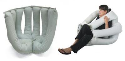 Puff pulpo o jaula con jeans reciclados, con o sin coser