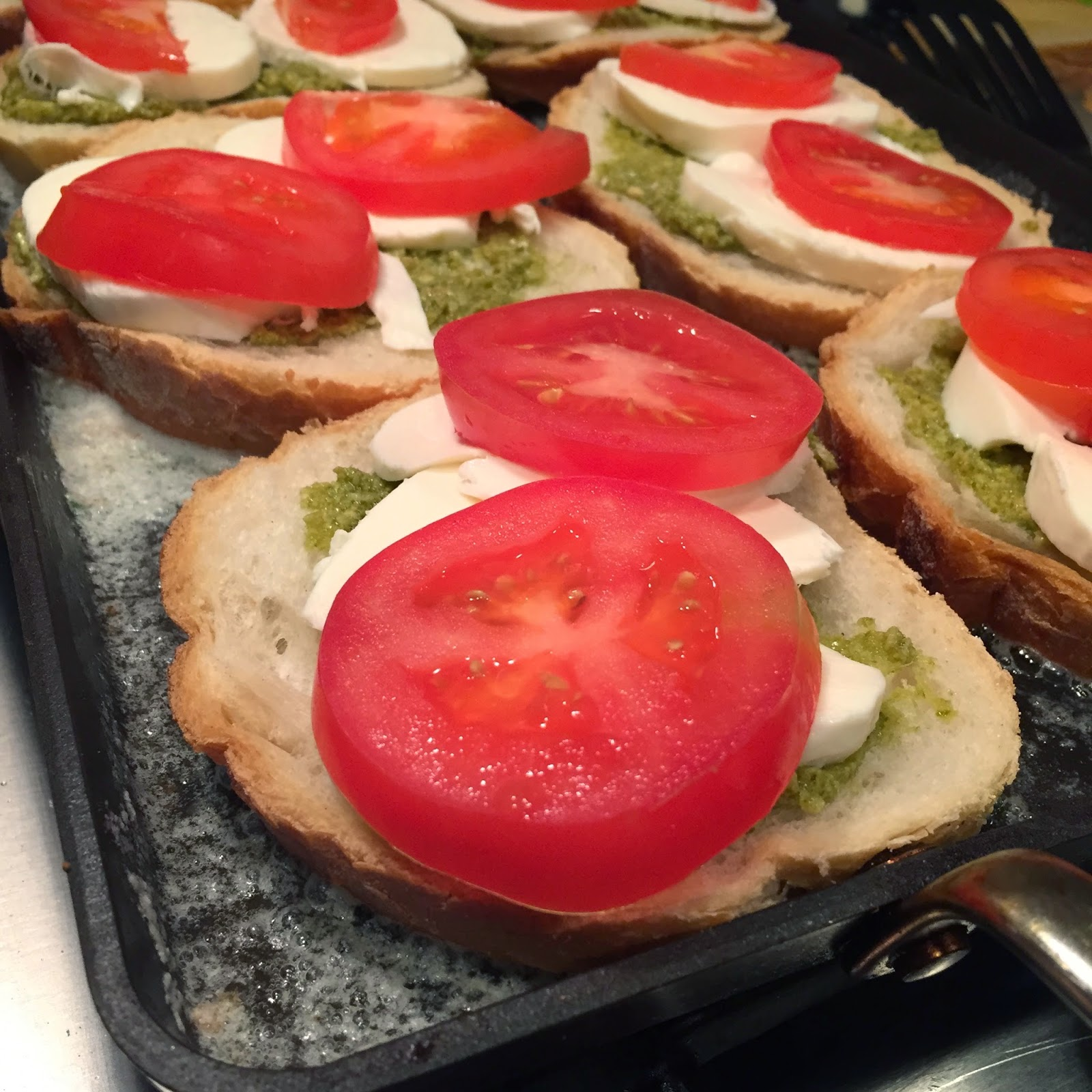 Food Impressions: Grilled Tomato Mozzarella Sandwiches