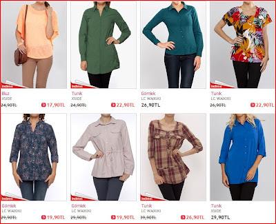 Lcw Bluz Gömlek Ve Tunikleri
