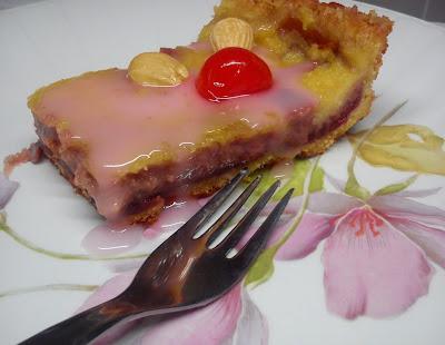Tarta Bakewell Veganizada