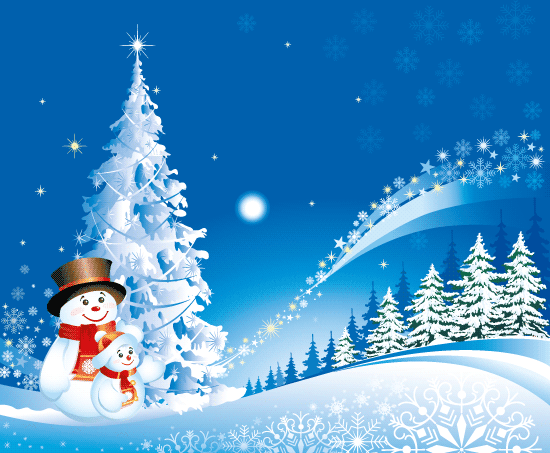 Christma de navidad con muñecos de nieve