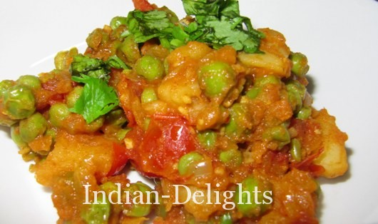 Alu Mattar (Potatoes and Green Peas vegetable) recipe