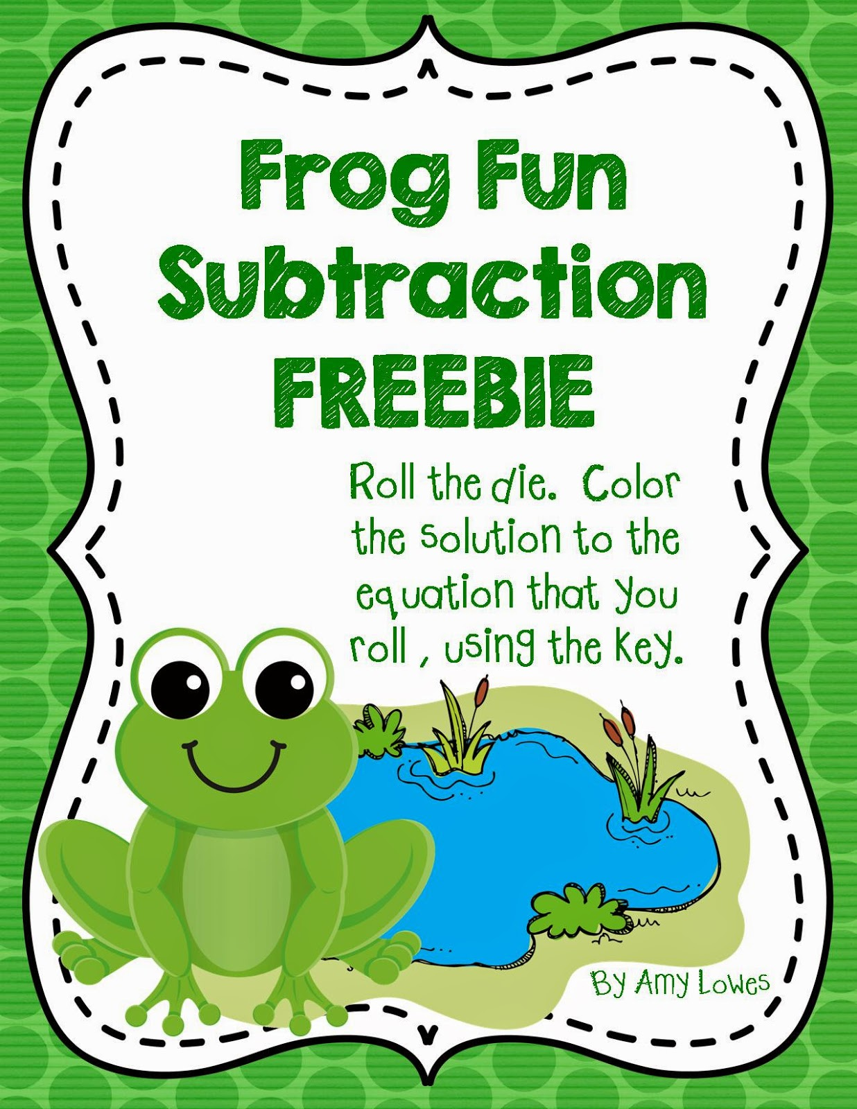 http://www.teacherspayteachers.com/Product/Frog-Fun-Subtraction-FREEBIE-1217341