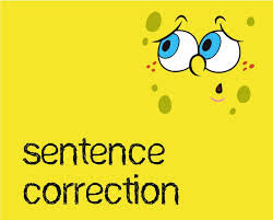 IBPS CLERK:: CORRECTION OF SENTENCES -2