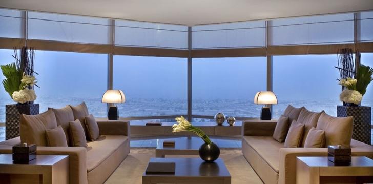 Living room in Armani Burj Khalifa Hotel Dubai