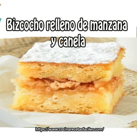 Bizcocho relleno de manzana y canela recetas f ciles for Bizcocho de manzana y canela