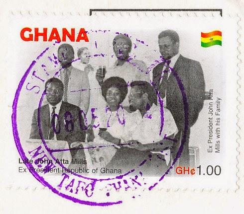 stamp, ghana, john atta mills