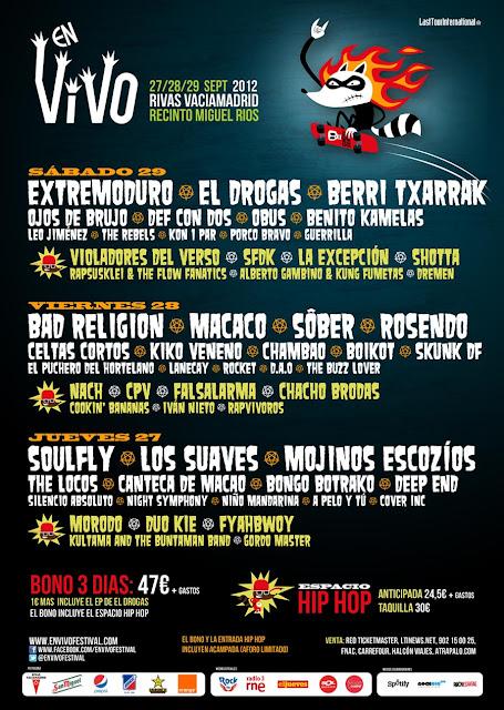 Festival En Vivo de Rivas Vaciamadrid 2012 - noticias musicales