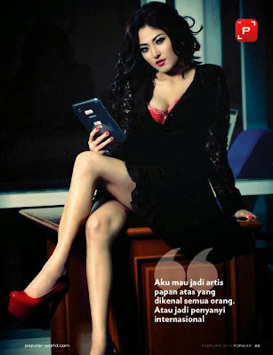 Ayu Aulia HQ Pictures Popular World  Magazine Photoshoot February 2014