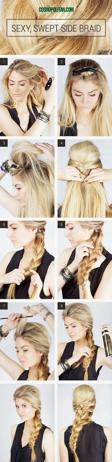 Gaya Rambut Sexy Swept Side Braid