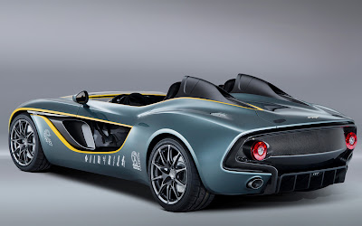 2013 Aston Martin CC100 Speedster concept rear three quarters view