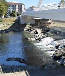 Il fiume Tanaro a valle del Ponte Meier, uno spettacolo desolante