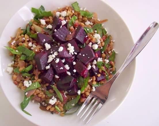Poor Girl Eats Well: Recipe: Roasted Beet & Farro Salad ...
