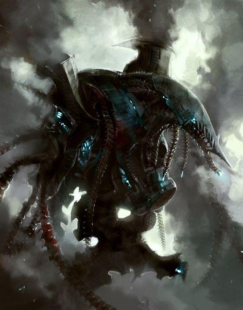HongWen xaeroaaa deviantart ilustrações fantasia ficção científica Fumaça