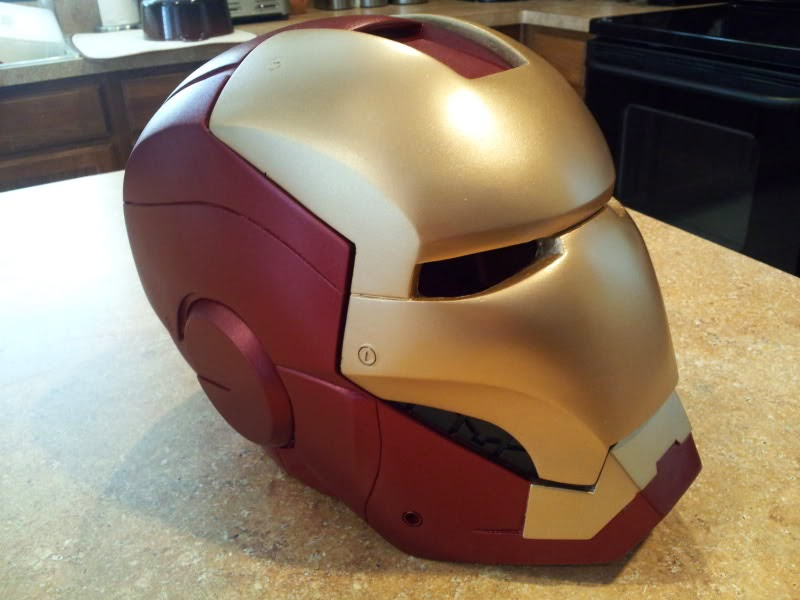 Iron Man Motorcycle Helmet came across this Custom Iron Man Motorcycle Helmet. This is an exact replica of Iron Man Helmet, There is not much info on this Iron Man Motorcycle Helmet. But if it was ever produced it would be a great collectible for all Iron man fans.