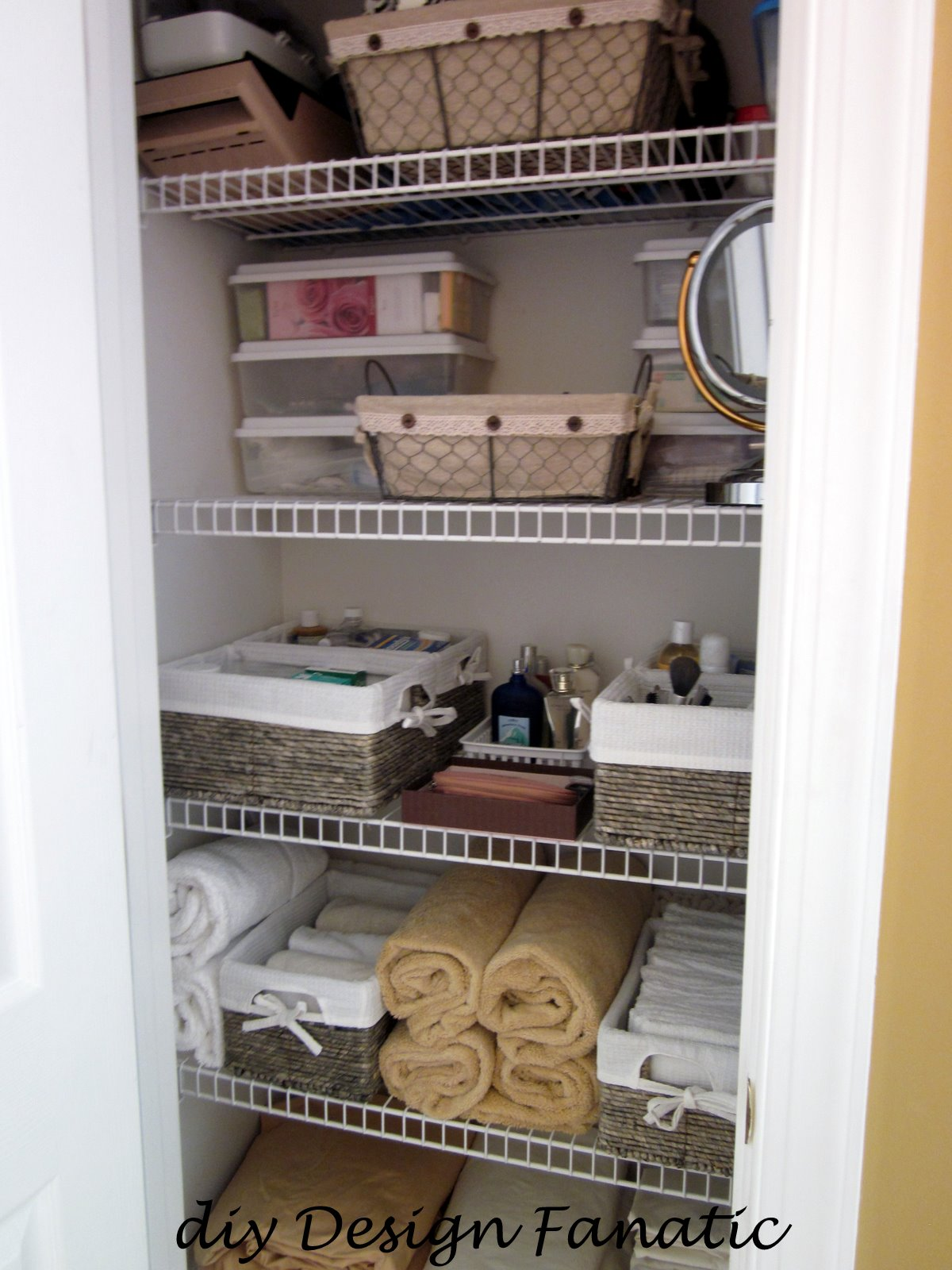 Organize Organization Linen Closet Diy