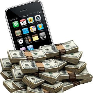 telefono smartphone y dinero