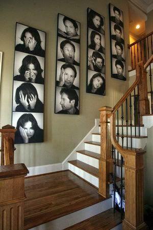 50 creative staircase wall decorating ideas art frames for Decoracion del hogar pinterest