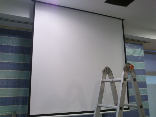 Diagram Abtus 60x60 Motorized Projector Screen Installation