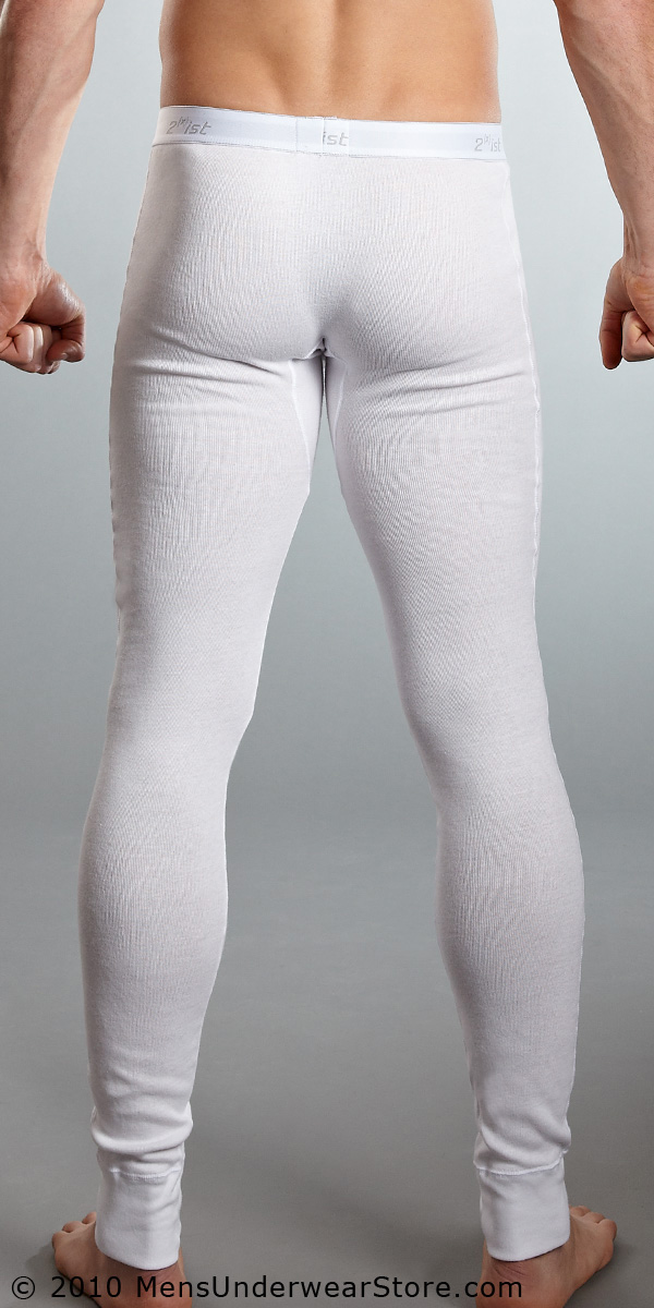 Men Fashion Dresses: White 2xist Essential Long Underwear - Mens ...