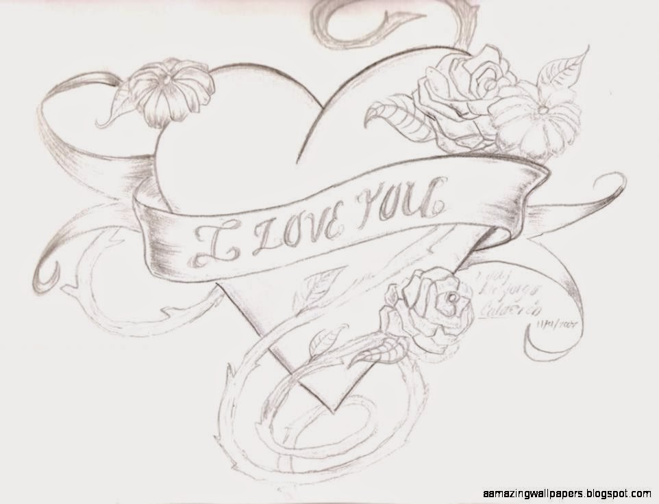 Cool rose and heart drawings the image for Amazing drawings of roses