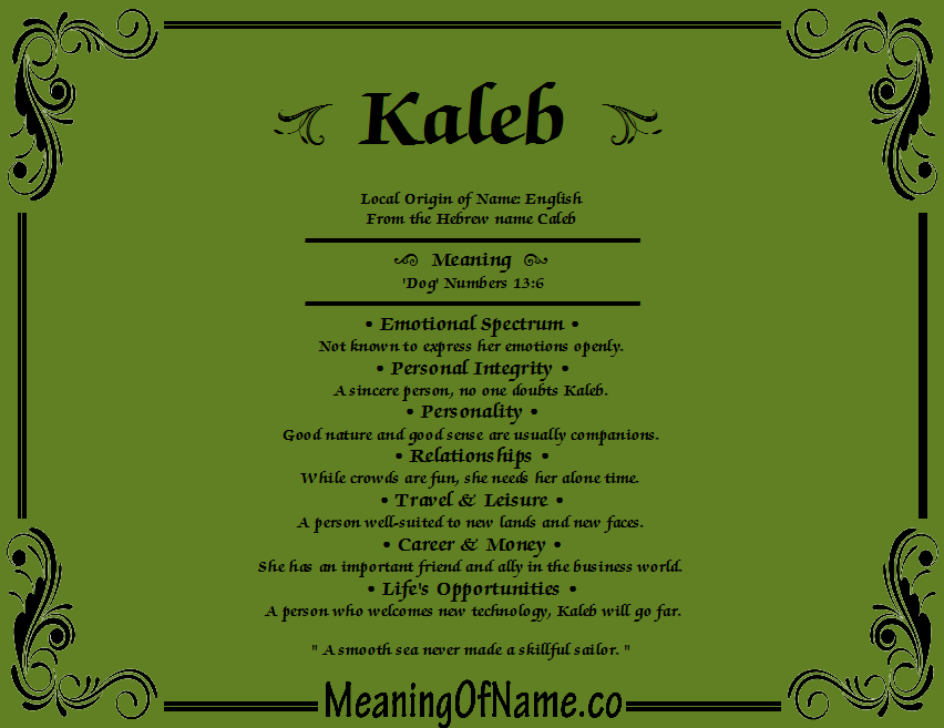 my name and its meaning